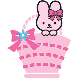 Bunny Basket Emoticon
