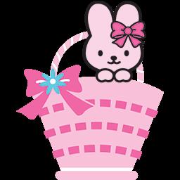 Bunny Basket Emoticon