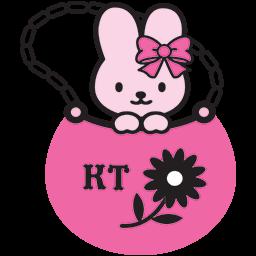 Bunny Pink Purse Emoticon
