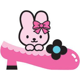 Bunny Pink Shoe Emoticon