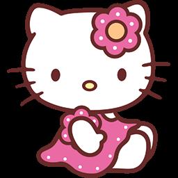 Sitting Kitty Emoticon