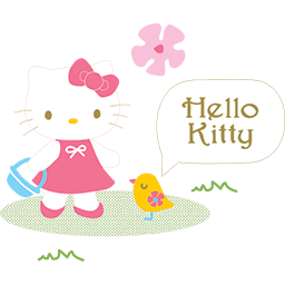 Hello Kitty Birdie Emoticon