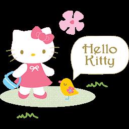 Hello Kitty Birdie Emoticon