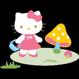 Hello Kitty Basket Emoticon