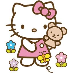Kitty Bear Garden Emoticon