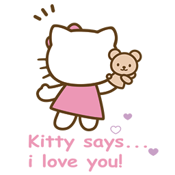 Kitty Bear Love Emoticon