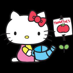 Hello Kitty Garden Emoticon