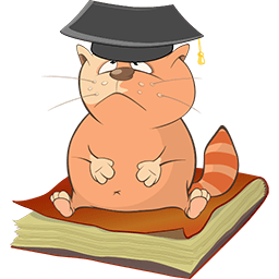 Kitty Grad Emoticon