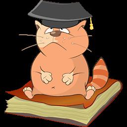 Kitty Grad Emoticon