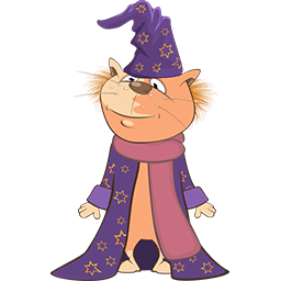 Kitty Wizard Emoticon