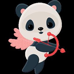 Cupid Panda Emoticon
