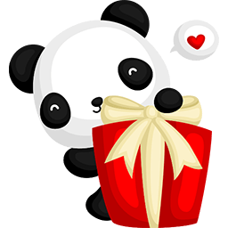 Lovely Present Emoticon