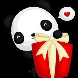 Lovely Present Emoticon