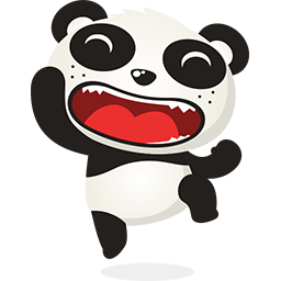 Excited Panda Emoticon