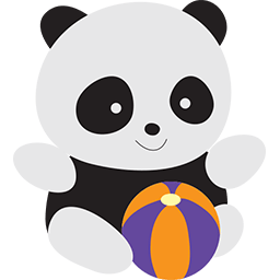 Beach Volleyball Panda Emoticon