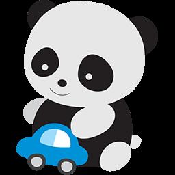 Panda Baby Playtime Emoticon