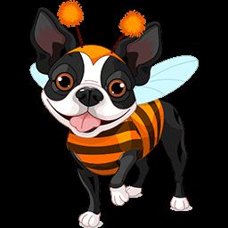Bumblebee Boston Terrier Emoticon