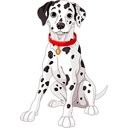 Dalmatian Puppy Emoticon