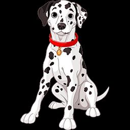 Dalmatian Puppy Emoticon
