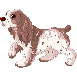 Happy Cocker Spaniel Emoticon
