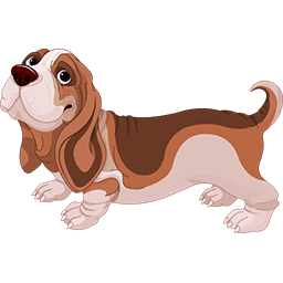 Happy Basset Emoticon