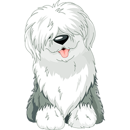 Bearded Collie Puppy Emoticon