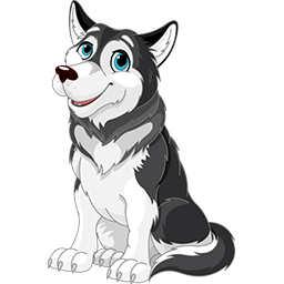 Lovely Husky Emoticon