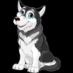Lovely Husky Emoticon