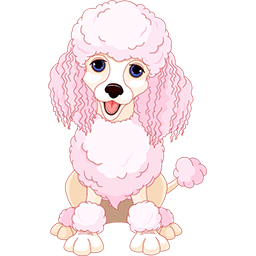 Pretty Poodle Emoticon