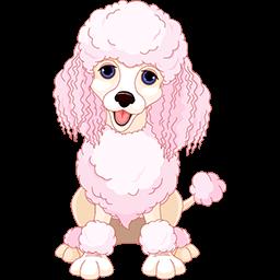 Pretty Poodle Emoticon