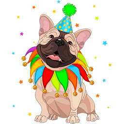 Frenchie Clown Emoticon