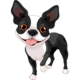 Boston Terrier Energized Emoticon
