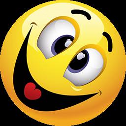Crazy And Happy Emoticon