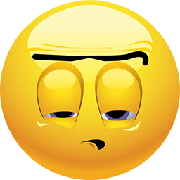 Unibrow Dizzy Emoticon