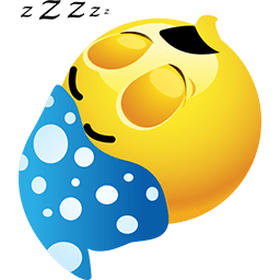 Sleep Like A Log Emoticon