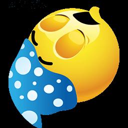 Sleep Like A Log Emoticon