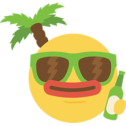 Party On The Beach Emoticon