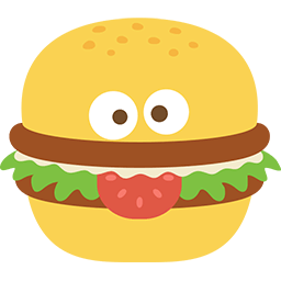 Burger Face Emoticon