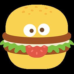 Burger Face Emoticon