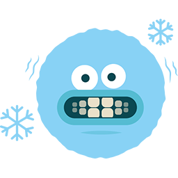 It's Freezing Emoticon