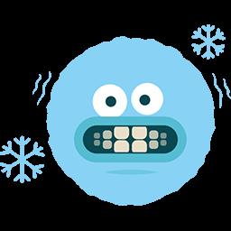 It's Freezing Emoticon