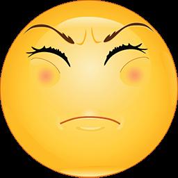 Too Unpleasant Emoticon