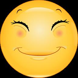 Closed Eyes Smile Emoticon