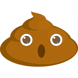Poop Astonished Emoticon