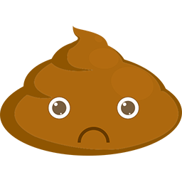 Sad Poop Emoticon