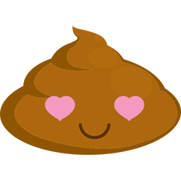 Poop In Love Emoticon