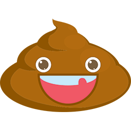 Cheery Poop Emoticon