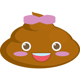 Poop Ribbon Emoticon