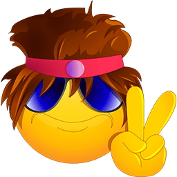 Rockstar Peace Emoticon