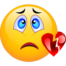 Heart Break Emoticon
